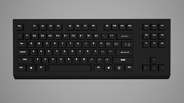 Computer keyboard - 3DOcean Item for Sale