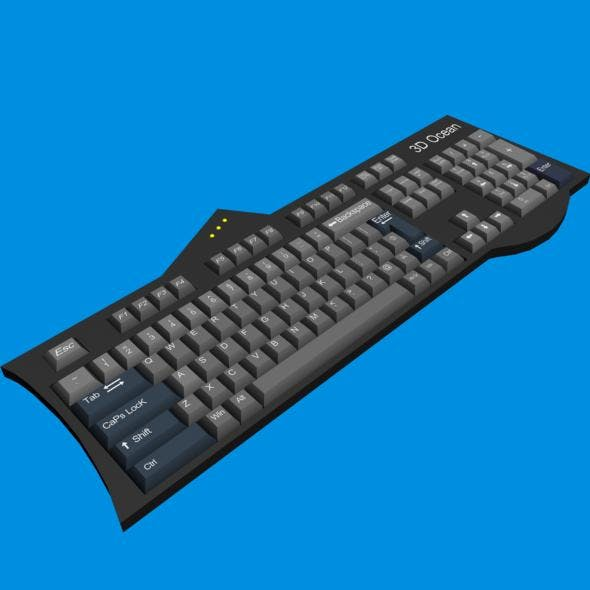 Computer Keyboard - 3DOcean Item for Sale