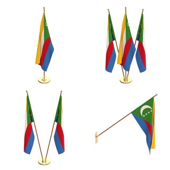 Comoros Flag Pack - 3DOcean Item for Sale