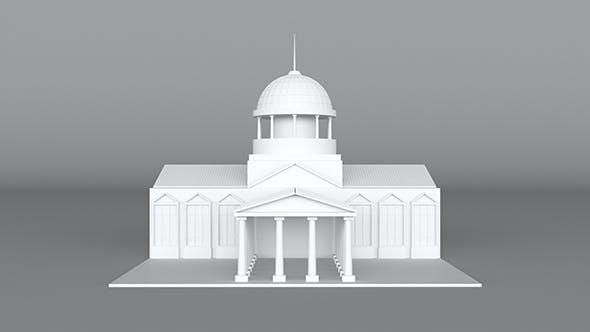 Church Lowpoly Model - 3DOcean Item for Sale