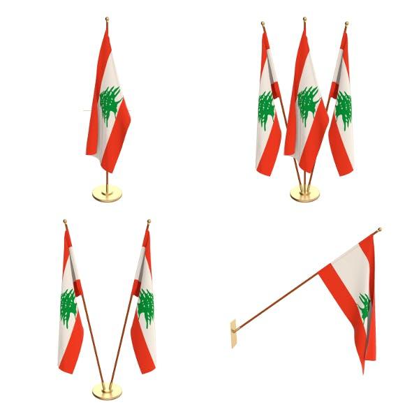Lebanon Flag Pack - 3DOcean Item for Sale
