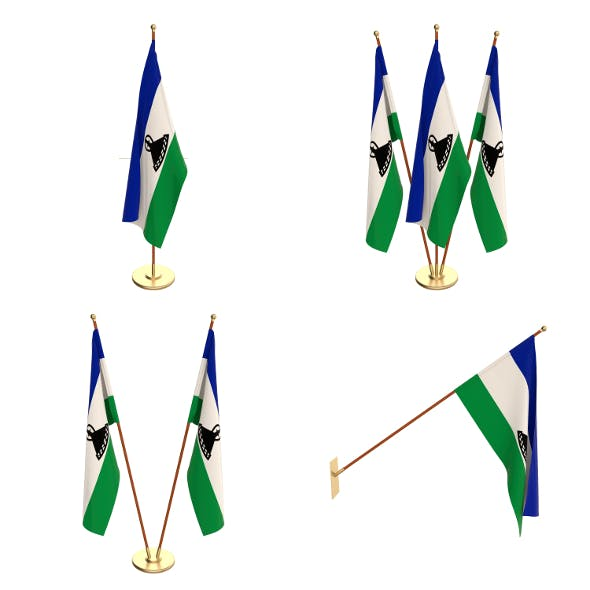 Lesotho Flag Pack - 3DOcean Item for Sale