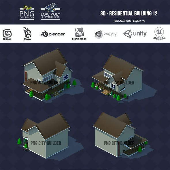 low poly city builder residential 12