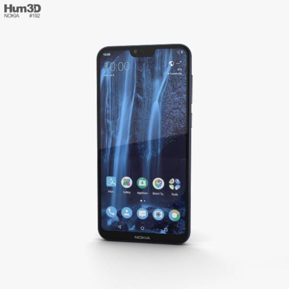 Nokia X6 Blue - 3DOcean Item for Sale