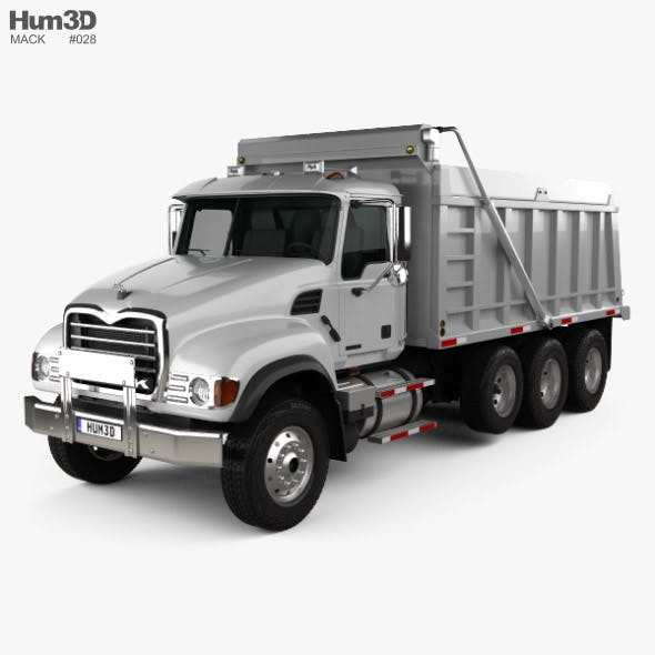 Mack Granite CV713 Dump Truck 2009 - 3DOcean Item for Sale