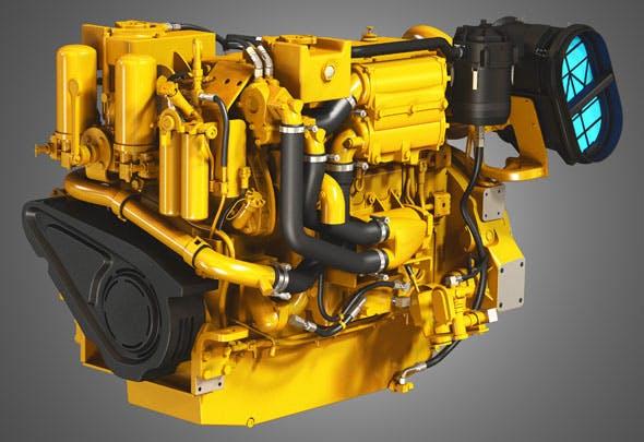 Cat - C18 ACERT Engine -3d model - 3DOcean Item for Sale