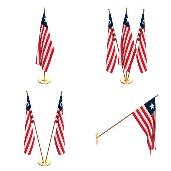 Liberia Flag Pack - 3DOcean Item for Sale