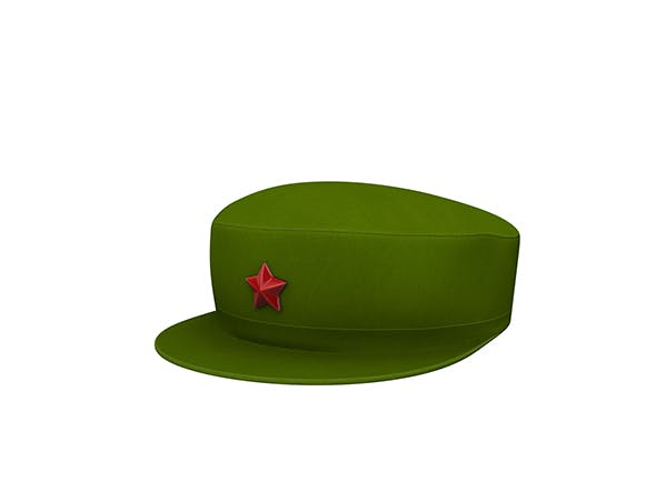 Chinese Army Cap - 3DOcean Item for Sale