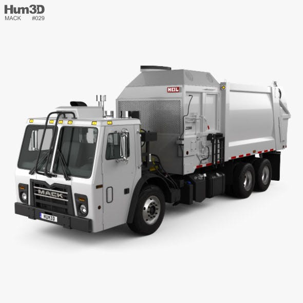 Mack LR LEU613 Garbage Truck Heil 2015 - 3DOcean Item for Sale
