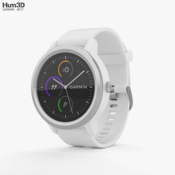 Garmin Vivoactive 3 White with Stainless Hardware - 3DOcean Item for Sale