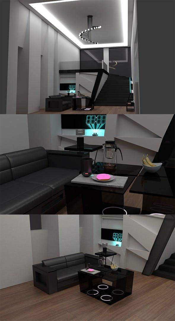 Modern room - 3DOcean Item for Sale