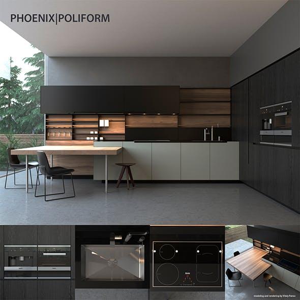 Kitchen Poliform Varenna Phoenix - 3DOcean Item for Sale