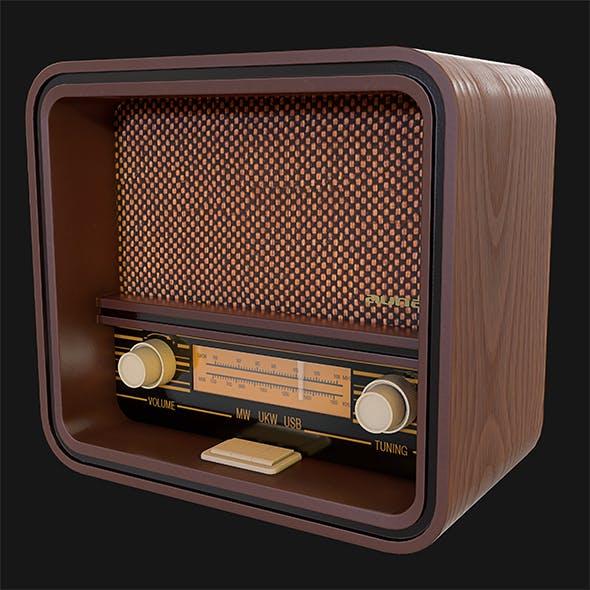 Retro Radio - 3DOcean Item for Sale