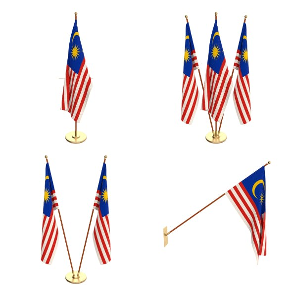 Malaysia Flag Pack - 3DOcean Item for Sale