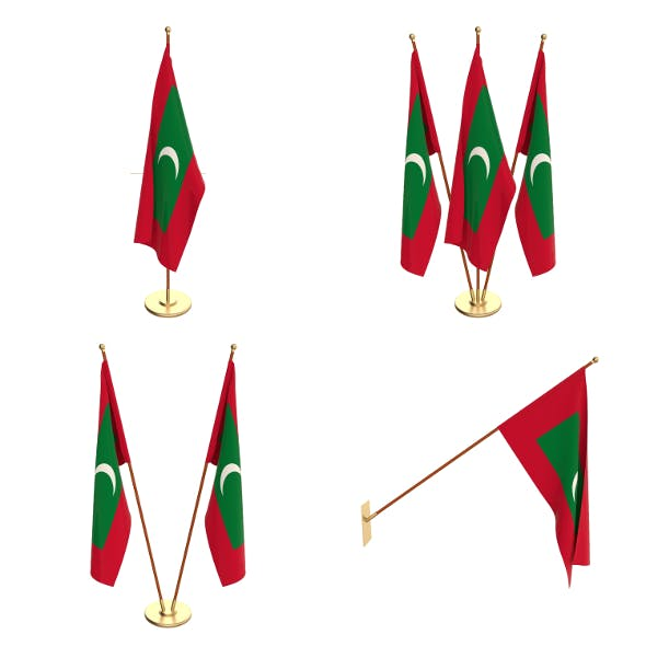 Maldives Flag Pack - 3DOcean Item for Sale