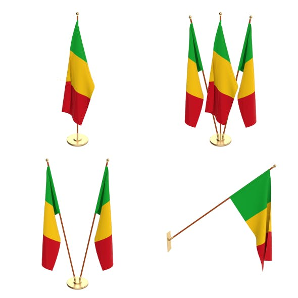 Mali Flag Pack - 3DOcean Item for Sale