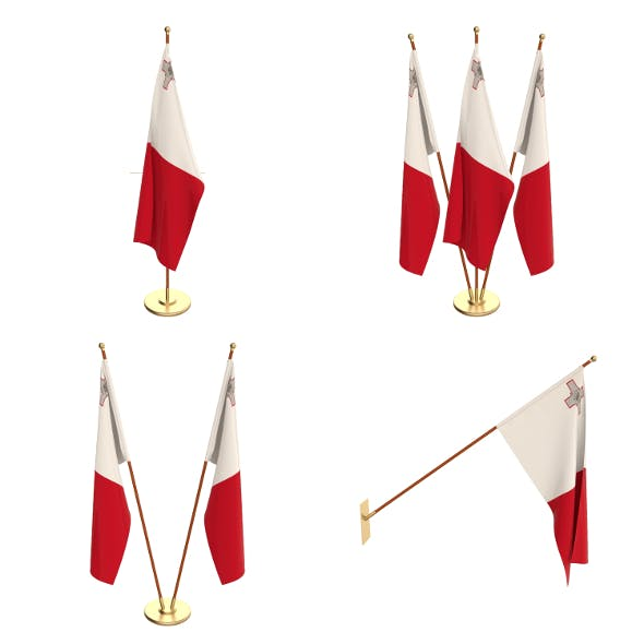Malta Flag Pack - 3DOcean Item for Sale