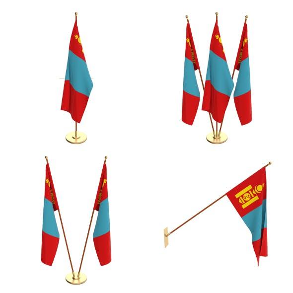 Mongolia Flag Pack - 3DOcean Item for Sale