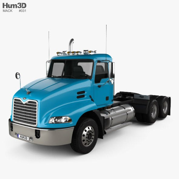 Mack Vision CXN613 Day Cab Tractor Truck 3-axle 2007 - 3DOcean Item for Sale