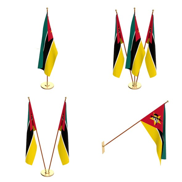 Mozambique Flag Pack - 3DOcean Item for Sale