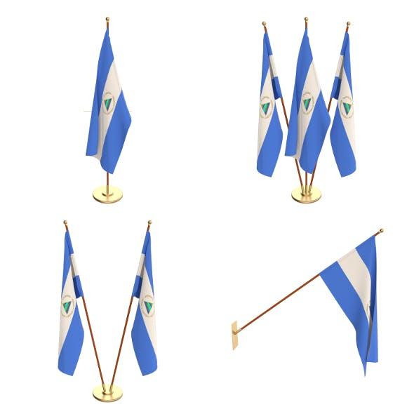 Nicaragua Flag Pack - 3DOcean Item for Sale