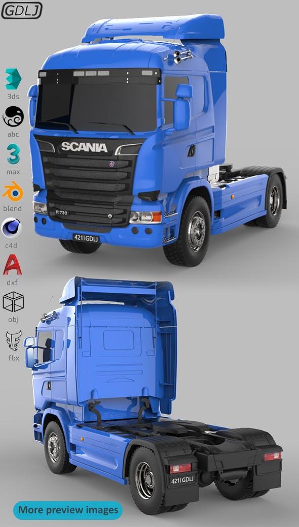 Scania R730 V8 Blue - 3DOcean Item for Sale