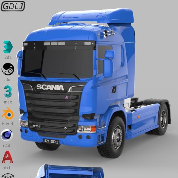 Scania R730 V8 Blue
