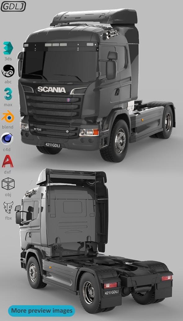 Scania R730 V8 Black - 3DOcean Item for Sale