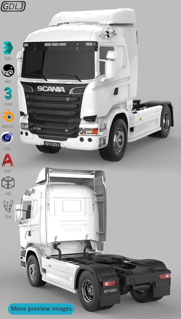 Scania R730 V8 White - 3DOcean Item for Sale