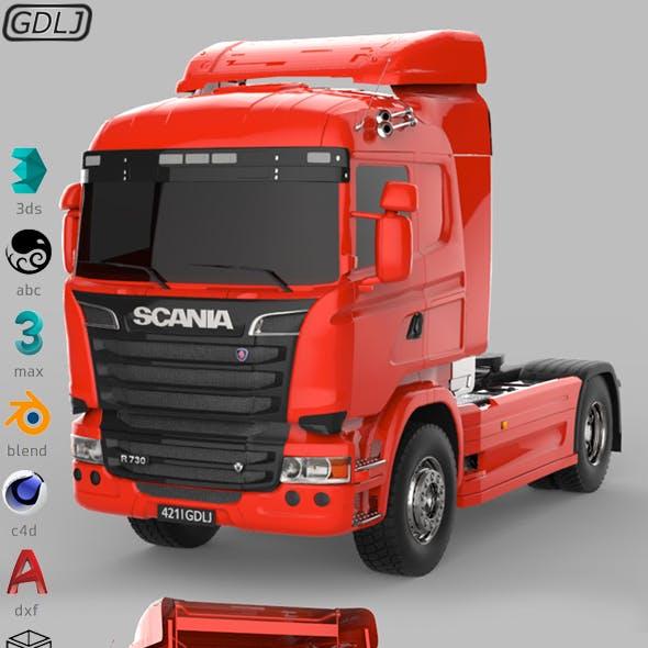 Scania R730 V8 Red