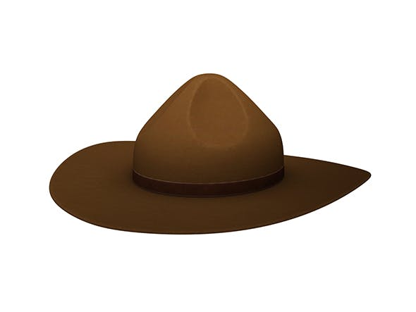 Drill Sergeant Hat - 3DOcean Item for Sale