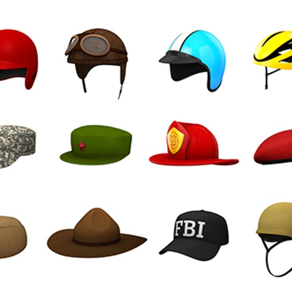 Hats and Helmet Pack 4