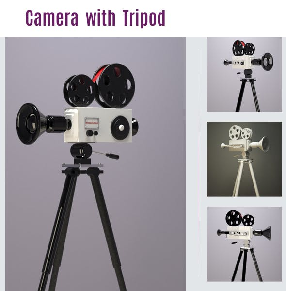 Camera and Tripod - 3DOcean Item for Sale