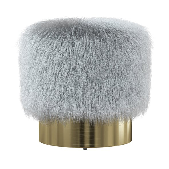 Doutzen Fur Stool - 3DOcean Item for Sale