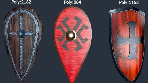 Low Poly Shield - 3DOcean Item for Sale