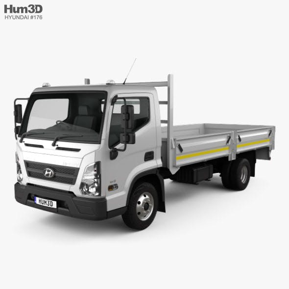 Hyundai Mighty EX8 Flatbed Truck 2018 - 3DOcean Item for Sale