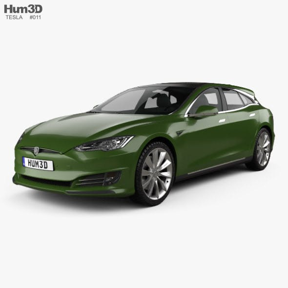 Tesla Model S Remetz Car Shooting Brake 2018 - 3DOcean Item for Sale