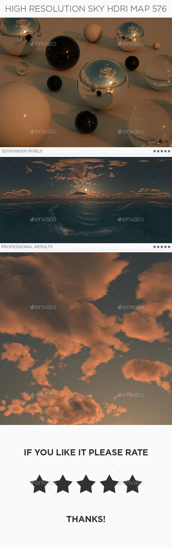 High Resolution Sky HDRi Map 576 - 3DOcean Item for Sale