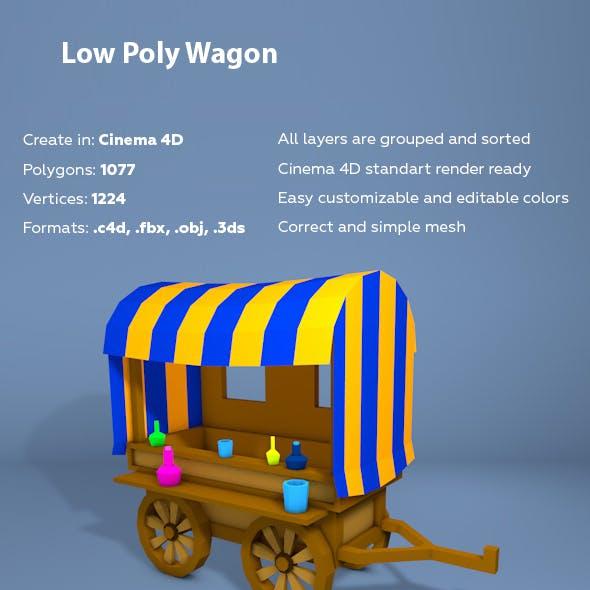Low Poly Wagon