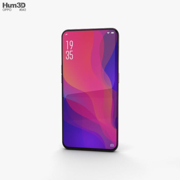 Oppo Find X Bordeaux Red - 3DOcean Item for Sale