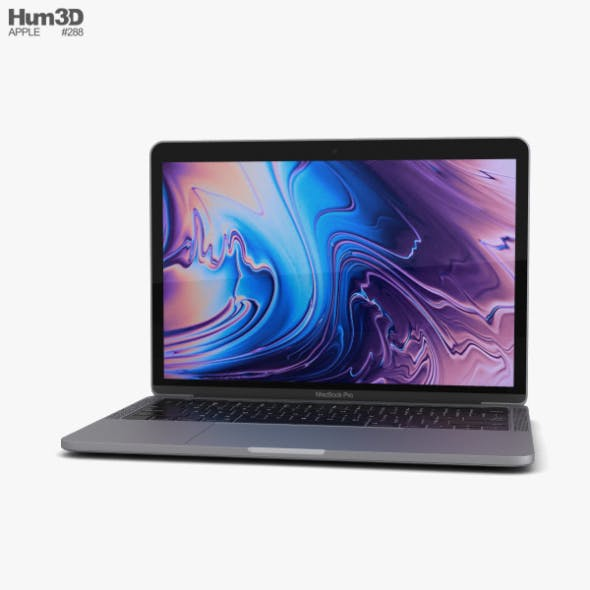 Apple MacBook Pro 13 inch (2018) Touch Bar Space Gray - 3DOcean Item for Sale
