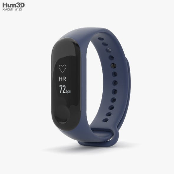 Xiaomi Mi Band 3 Deep Blue - 3DOcean Item for Sale
