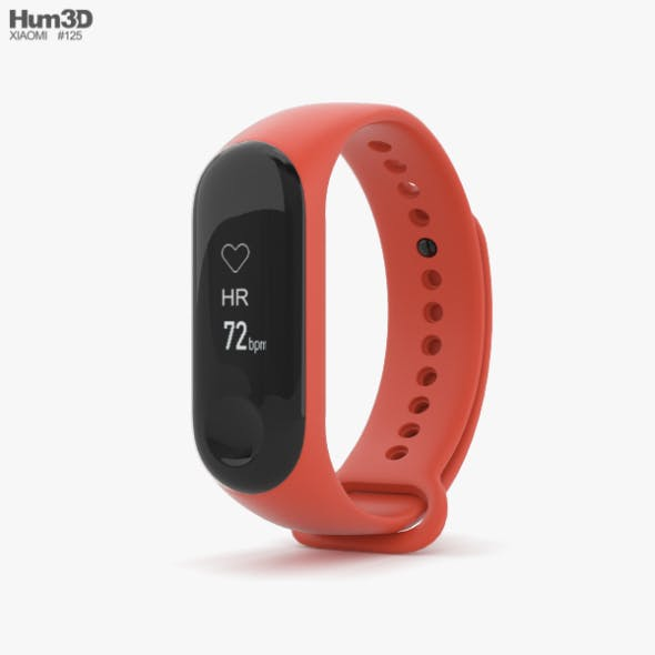 Xiaomi Mi Band 3 Hot Orange - 3DOcean Item for Sale