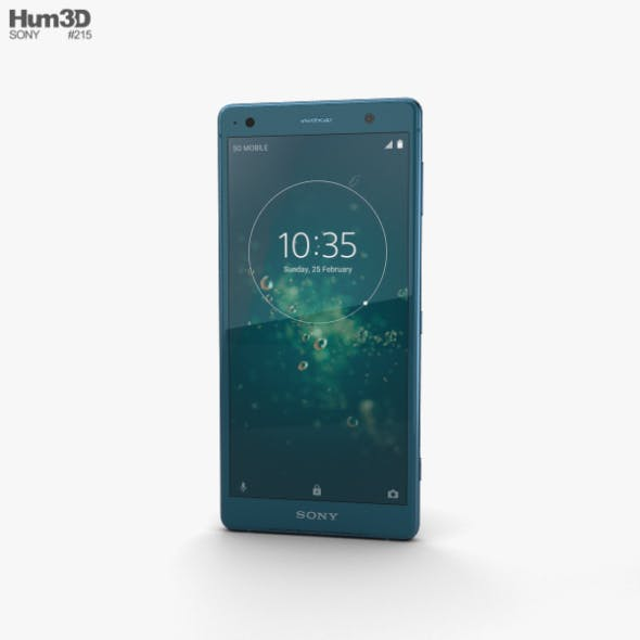 Sony Xperia XZ2 Deep Green - 3DOcean Item for Sale