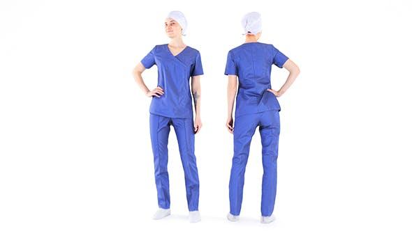 Surgical nurse 05 - 3DOcean Item for Sale