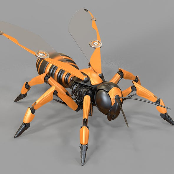Robot Wasp - 3DOcean Item for Sale
