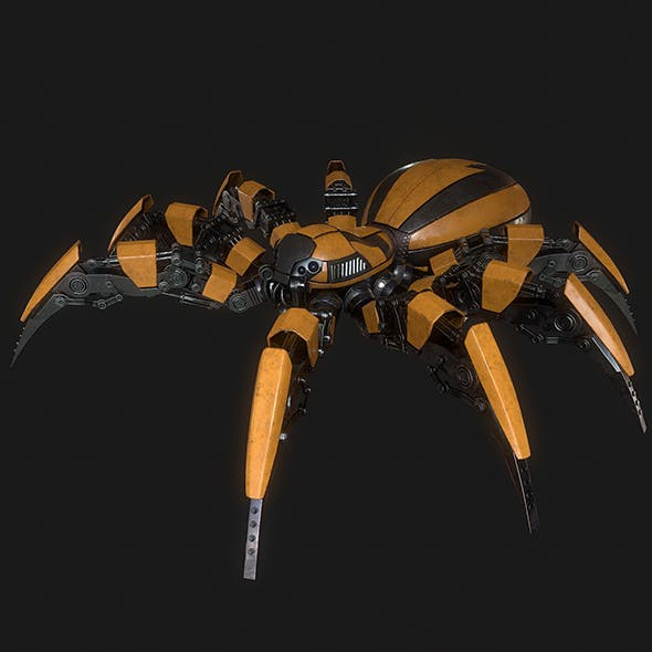 Spider Robot LowPoly