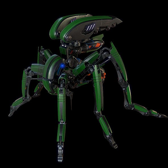 Robot mosquito Lowpoly