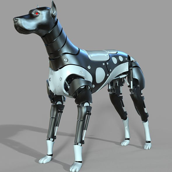 Robot Dog Doberman - 3DOcean Item for Sale