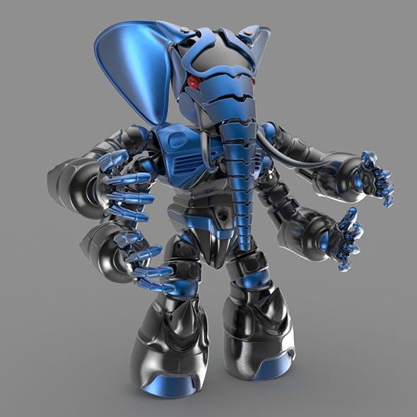 Robot elephant - 3DOcean Item for Sale